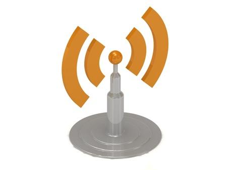antenna RSS on white background, 3D rendered Illustration Stock Illustration - 14626206