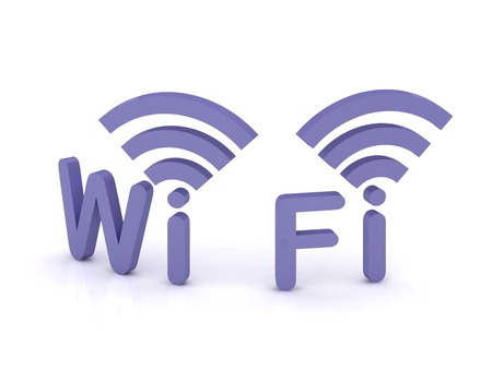 Internet wi-fi, icono 3D sobre fondo blanco photo
