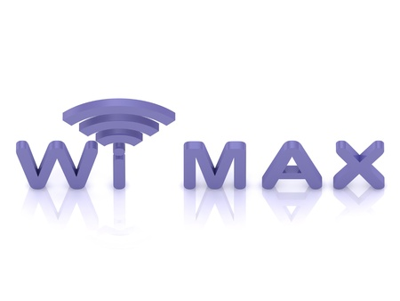 abstract Wi MAX logo, 3D render image on isolated white background photo