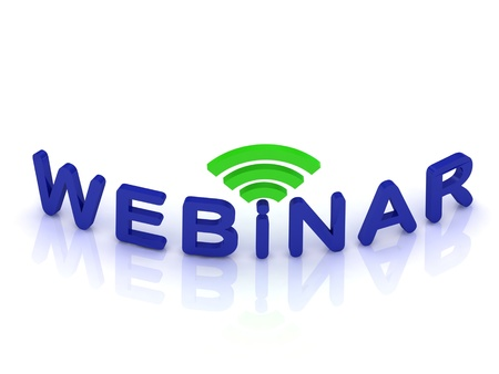 webinar sign on white background photo
