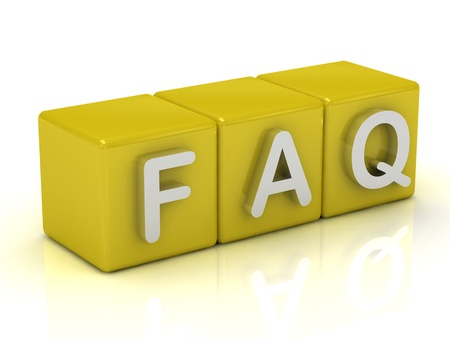 Inscription on the cubes of gold: FAQ Stock Photo - 14622035