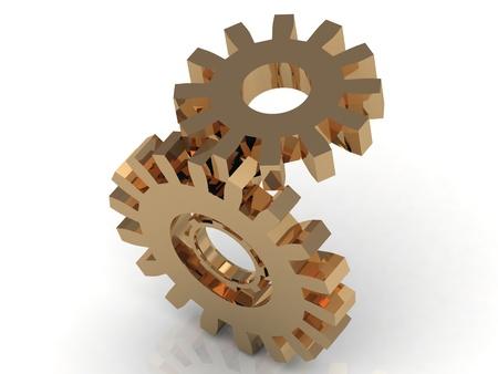 Mechanism of the golden gears photo