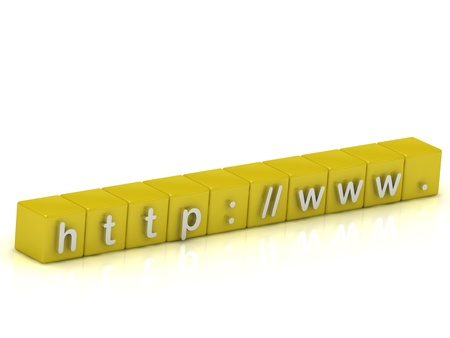 Search string web browser on the gold cubes painted silver letters Stock Photo - 14626400