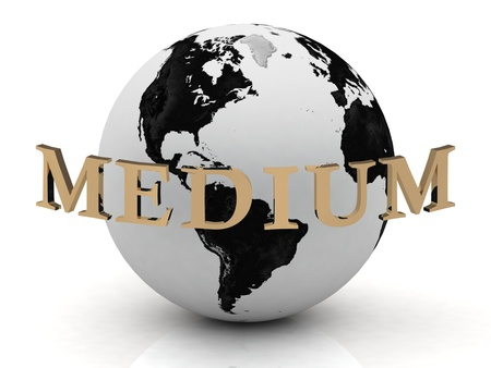 MEDIUM abstraction inscription around earth on a white background photo