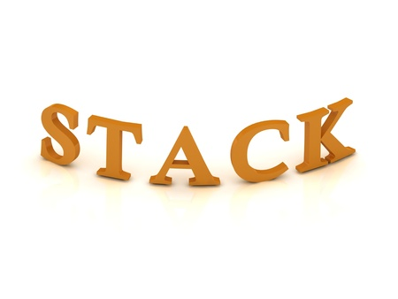 STACK sign with orange letters on isolated white background Stock Photo - 14687800