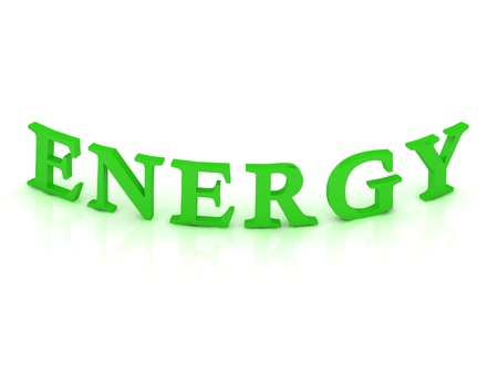 ENERGY sign with green word on isolated white background Stock Photo - 14858441
