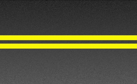 Double solid yellow lines on asphalt texture  photo