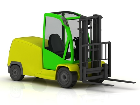 stockpile: Forklift for airport isolated on white