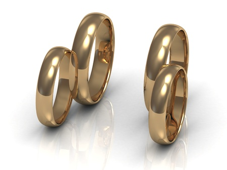 chariot: Two pairs of gold rings, arranged as a wedding chariot wheels