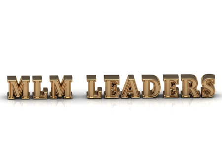 mlm: MLM LEADERS - bright gold letters on a white background