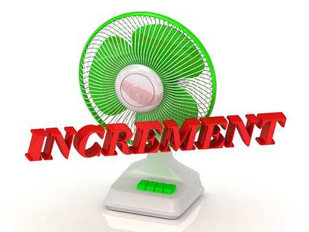 increment: INCREMENT- Green Fan propeller and bright color letters on a white background