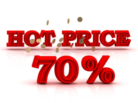 keywords background: 70  PERSENT HOT PRICE business icon red keywords isolated on white background