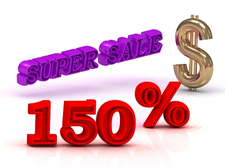 keywords background: 150  PERSENT SUPER SALE business icon keywords, gold dollar isolated on white background