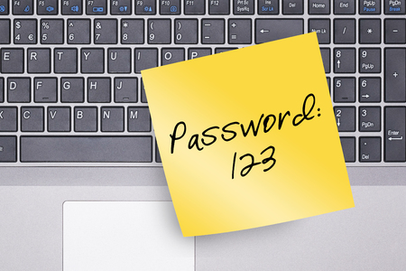 Kennwort Hinweis auf Tastatur-Konzept Foto Standard-Bild - 49910086