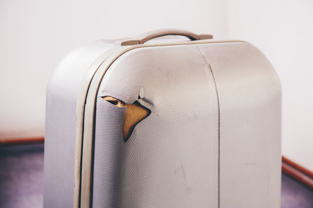 damaged: Damaged Luggage at the Airport