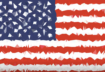 USA flag abstract polygon background  Illustration vector Standard-Bild - 110247447