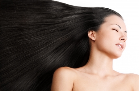 woman with healthy long shiny hair