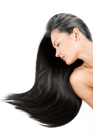 woman with healthy long shiny hair Stock Photo - 15772797