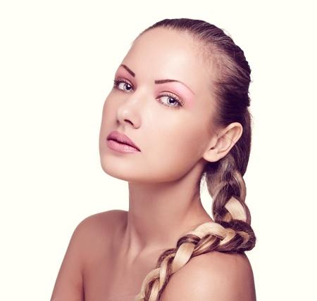 closeup portrait of a beautiful woman with fashion makeup Stock Photo - 15661604