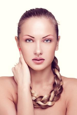 closeup portrait of a beautiful woman with fashion makeup Stock Photo - 15715016