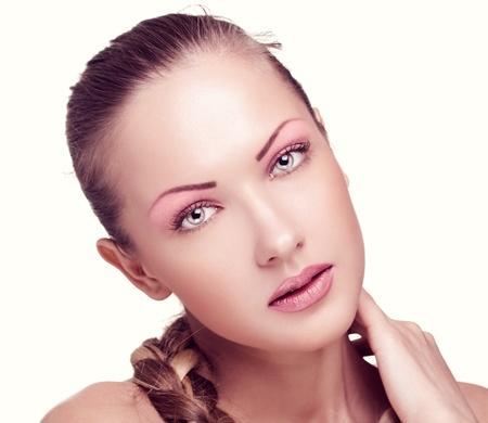 closeup portrait of a beautiful woman with fashion makeup Stock Photo - 15661607