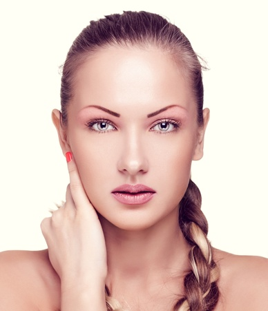 closeup portrait of a beautiful woman with fashion makeup Stock Photo - 15661612