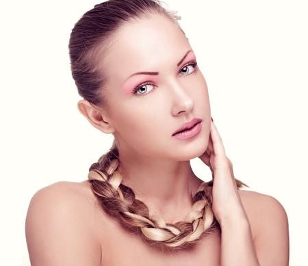 closeup portrait of a beautiful woman with fashion makeup Stock Photo - 15661611