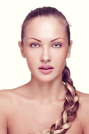 closeup portrait of a beautiful woman with fashion makeup Stock Photo - 15715015