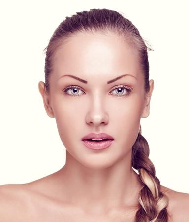 closeup portrait of a beautiful woman with fashion makeup Stock Photo - 15661608