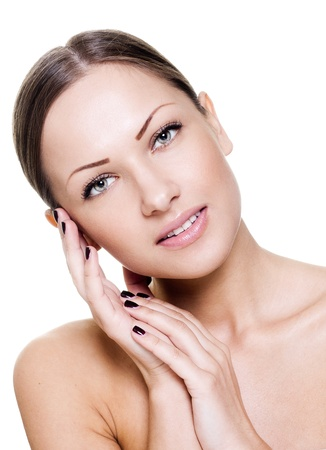 bodycare: beautiful young woman with perfect skin Stock Photo