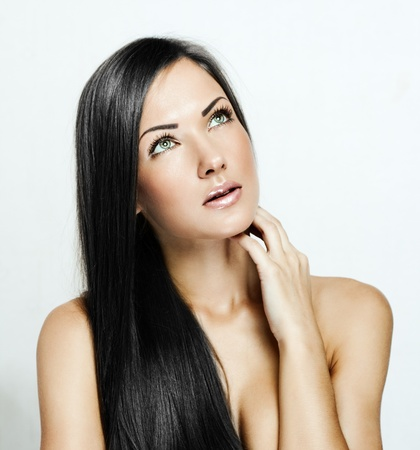 Beautiful Woman with Healthy Long Hair photo
