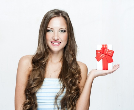 happy beautiful chritmas woman with christmas gifts  , christmas shopping , sales Stock Photo - 17105150