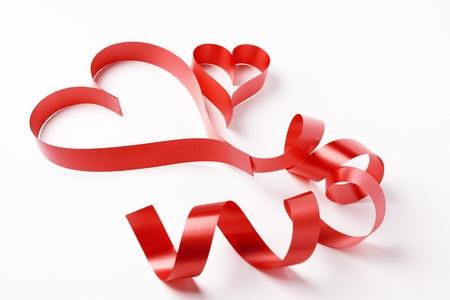 two valentine paper hearts , valentine s day