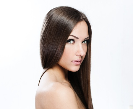 Beautiful Woman with Healthy Long Hair Stock Photo - 17751742