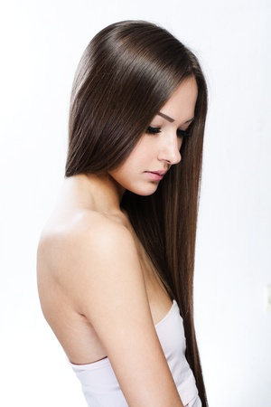 Beautiful Woman with Healthy Long Hair Stock Photo - 17751785