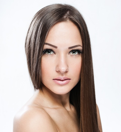 Beautiful Woman with Healthy Long Hair Stock Photo - 17753067