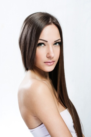 Beautiful Woman with Healthy Long Hair Stock Photo - 17753071