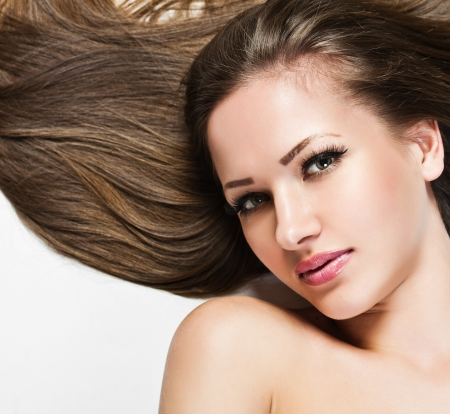 hair shampoo: Beautiful Woman with  Long Hair , beauty woman model , clean skin face , glamour makeup