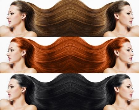 fashion hairstyle collage Stock Photo