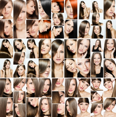 fashion hairstyle collage Stock Photo