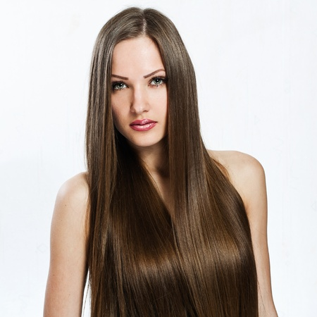 beautiful girl. healthy long hair. beauty model woman.