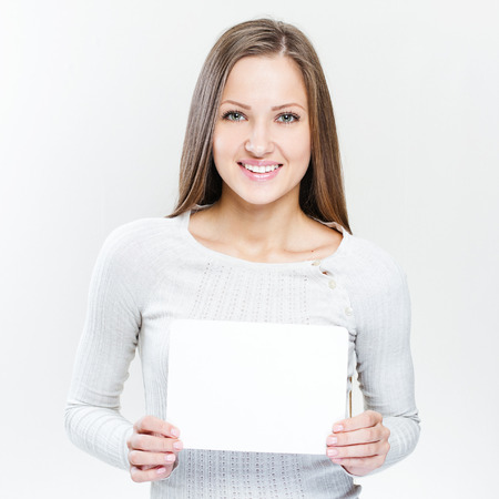 Young casual style woman portrait isolated over white background