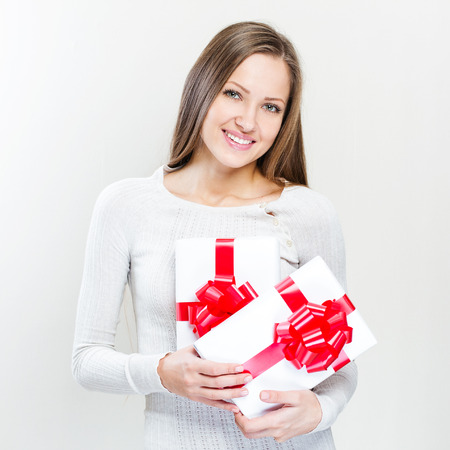 more similar images: happy beautiful christmas woman with christmas gifts , christmas Stock Photo