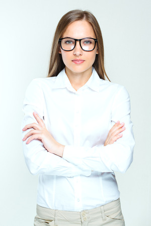 succesful: attractive business woman.  woman wearing glasses. succesful.