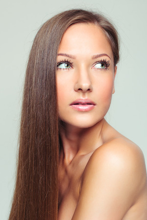 middle age women: beautiful woman with perfect skin and face