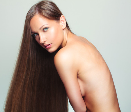 hair coloring: Beautiful Woman with Healthy Long Hair