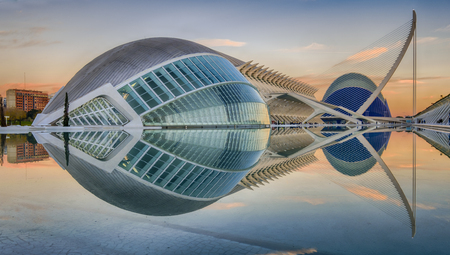 The City of Arts and Sciences is an entertainment-based cultural and architectural complex in the city of Valencia, Spain. It is the most important modern tourist destination in the city of Valencia and one of the most relevant in Spain, designed by archi Éditoriale