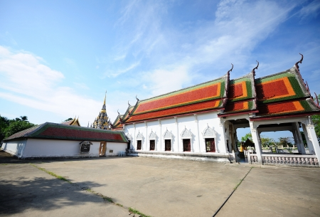 Thailand temple and nice sky photo