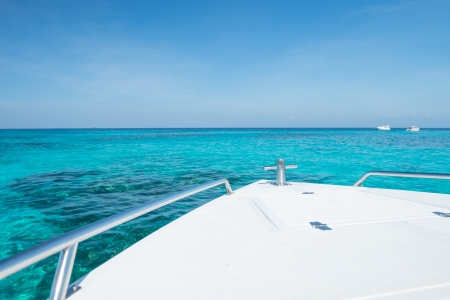 Boat View with Beautiful Sea photo