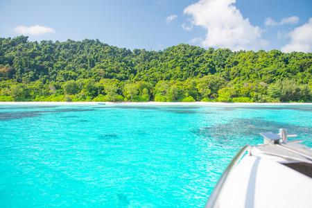 phangnga: the Beautiful beach and Ocean on tachai island near similan ,Khao Lak ,Phang-nga, Thailand Stock Photo
